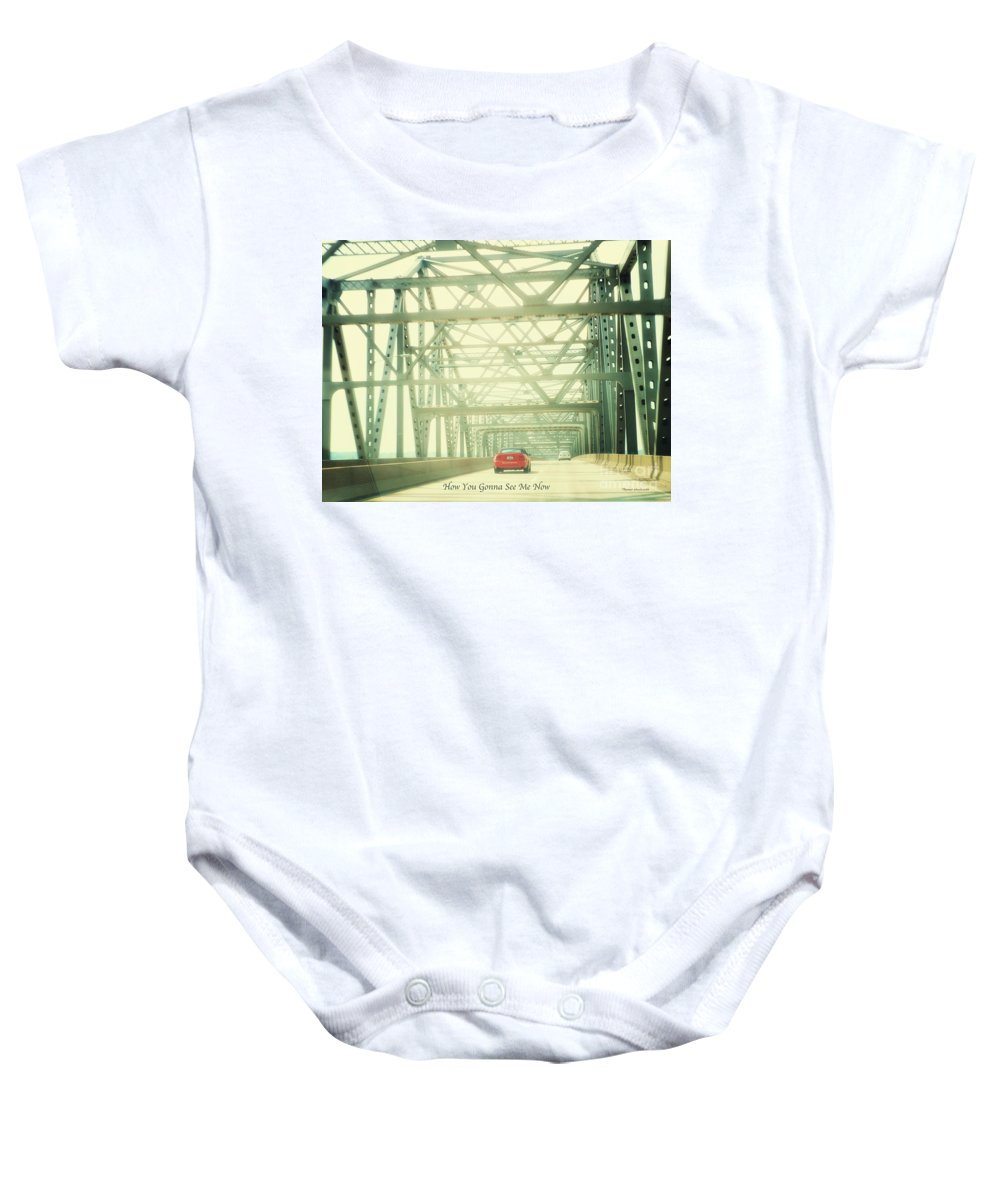 Red Car Baby Onesie featuring the photograph How You Gonna See Me Now by Thomas Woolworth