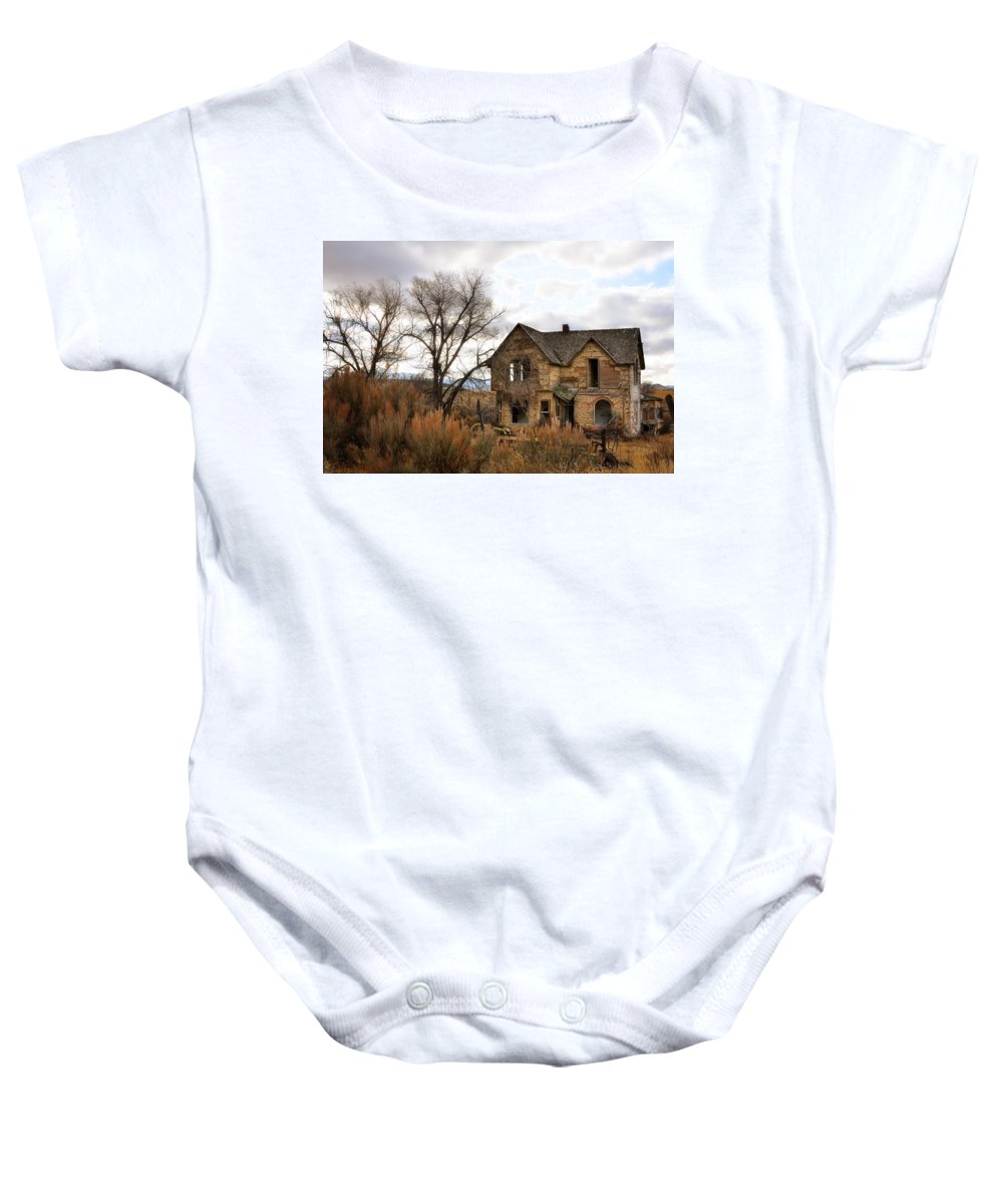 Idaho Baby Onesie featuring the photograph I Am Abandoned by Image Takers Photography LLC - Laura Morgan