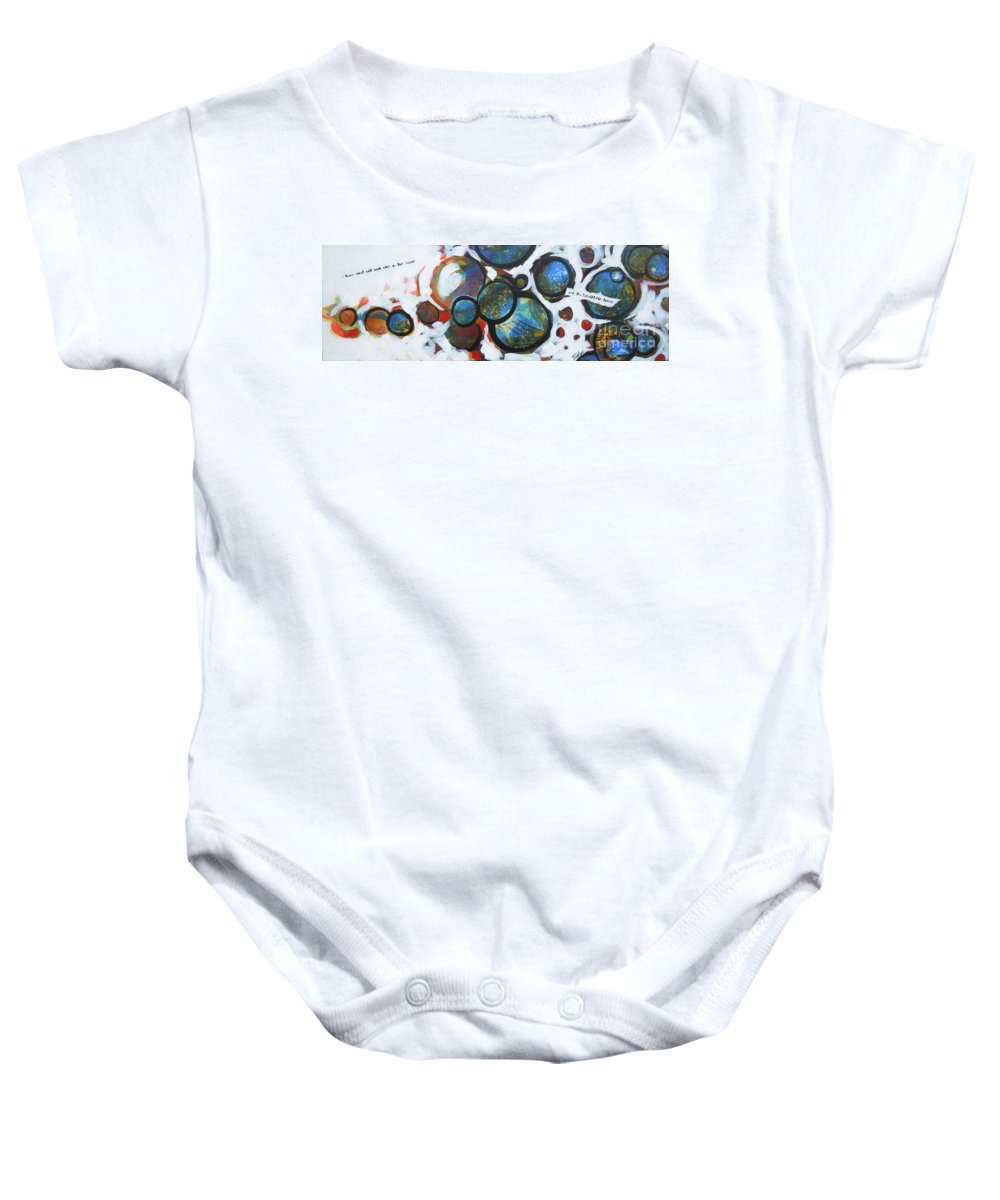 Circles Baby Onesie featuring the painting I Know What You Look Like by Tonya Henderson