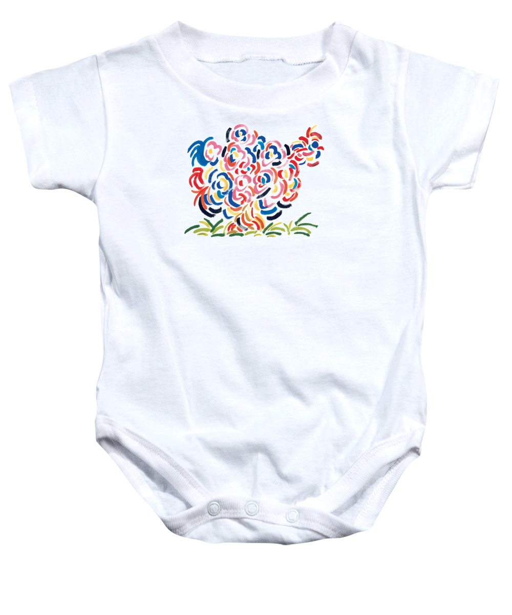 The Man Baby Onesie featuring the painting In Charge by Bjorn Sjogren