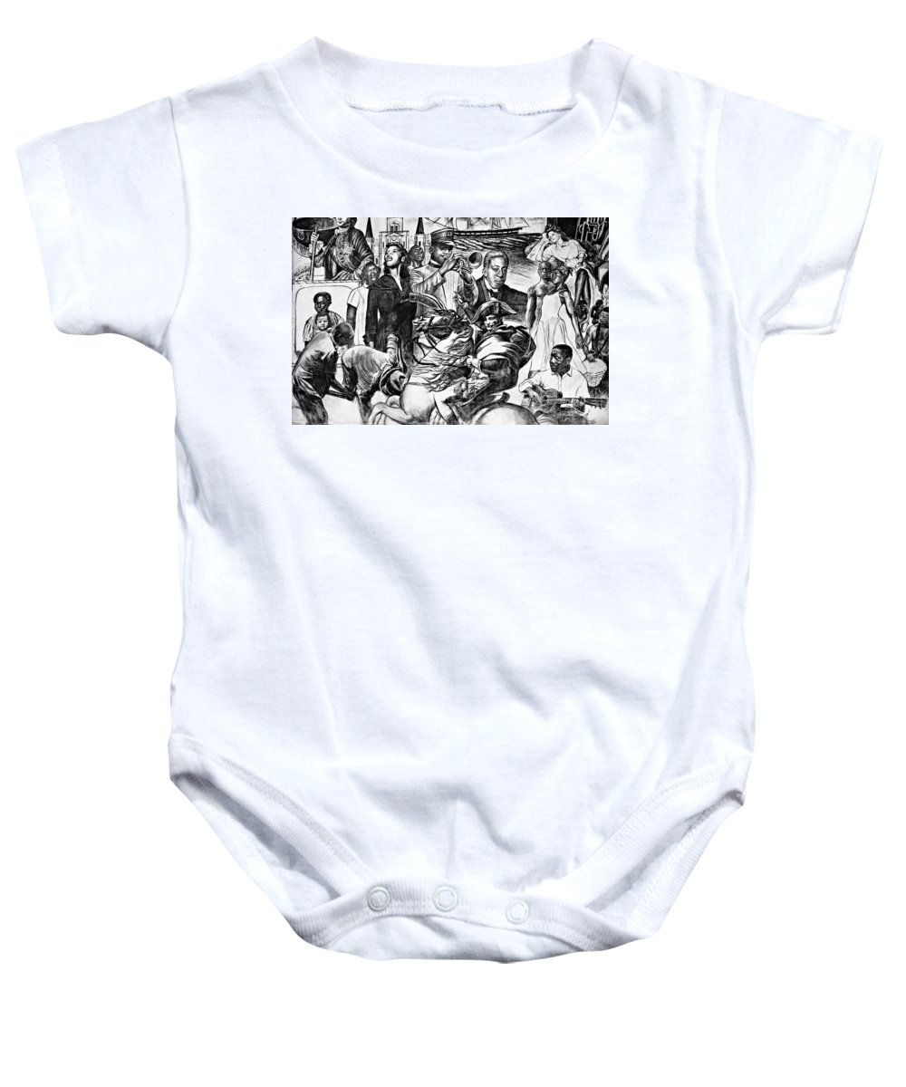 Nola Baby Onesie featuring the photograph In Praise Of Jazz Iv by Steve Harrington