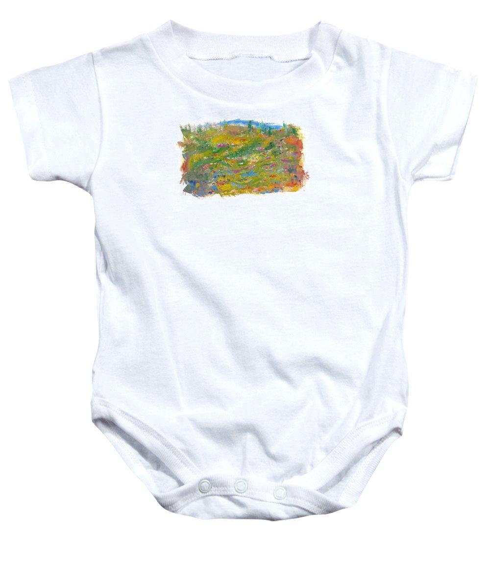 Valley Baby Onesie featuring the painting In The Valley by Bjorn Sjogren