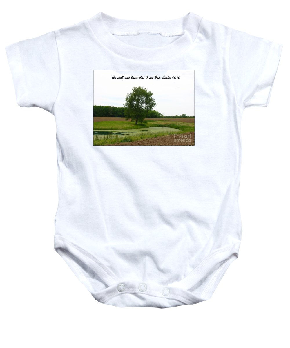Pond Baby Onesie featuring the photograph Inspirations 7 by Sara Raber