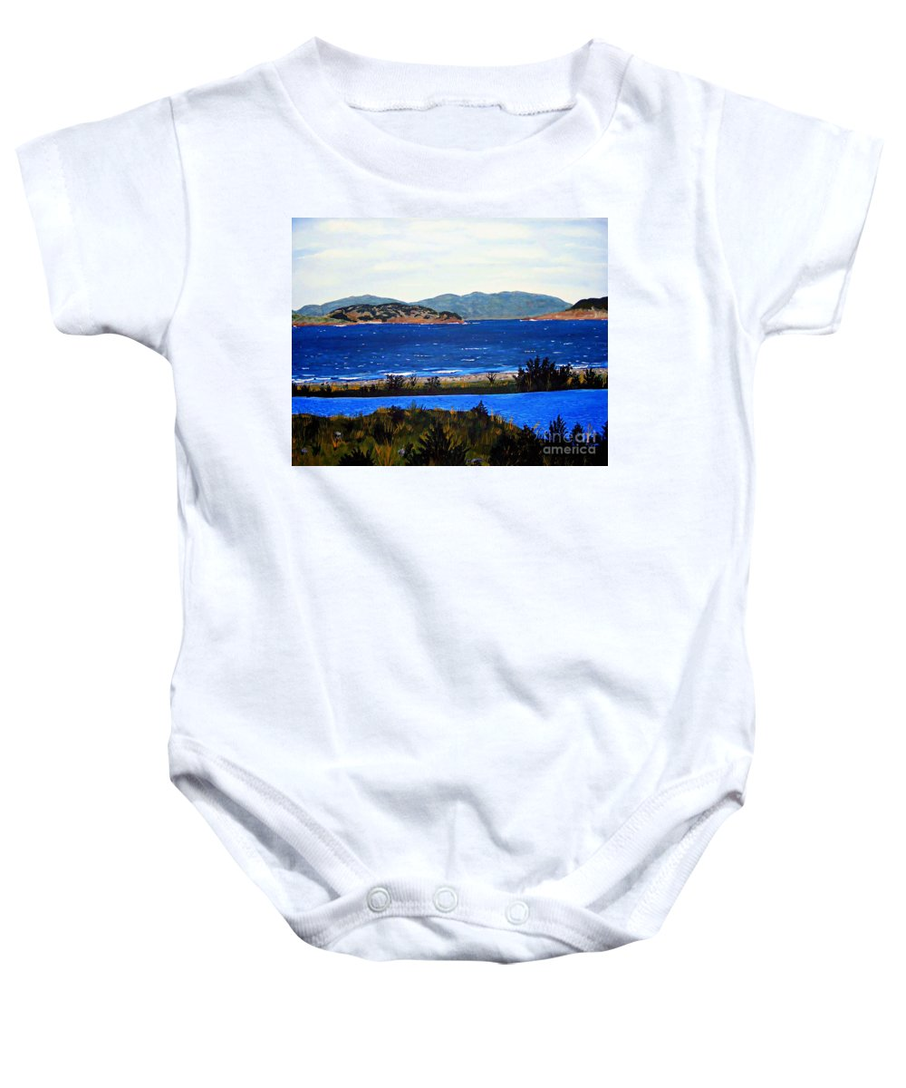 Islands Baby Onesie featuring the painting Iona Formerly Rams Islands by Barbara Griffin