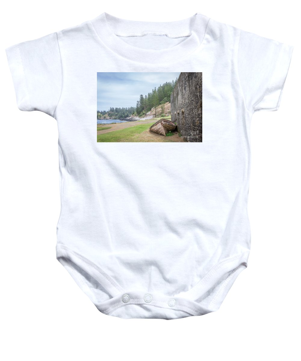 Boat Baby Onesie featuring the photograph It's Over by Jola Martysz