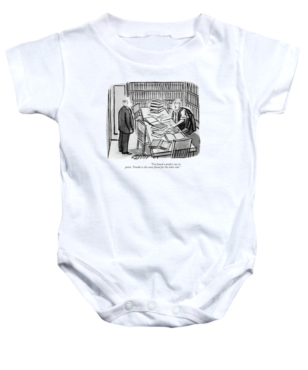 I Ve Found A Perfect Case In Point Trouble Baby Onesie