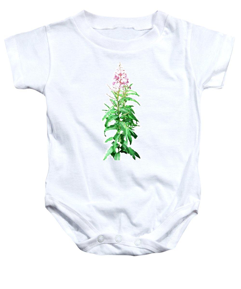 Yukon Baby Onesie featuring the digital art J7136 by Jill Walton