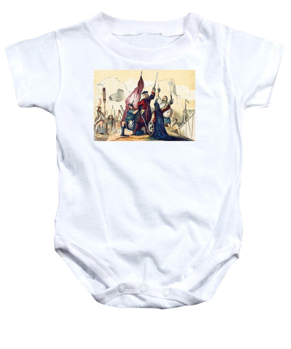 History Baby Onesie featuring the photograph James IIi Lands In Scotland, 1715 by British Library