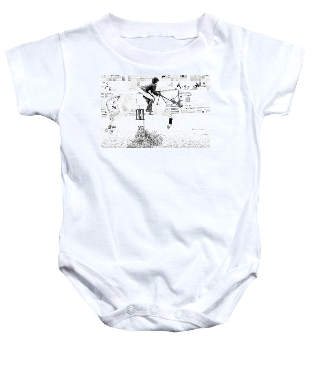 Horse Baby Onesie featuring the photograph Jumper Lines by Alice Gipson