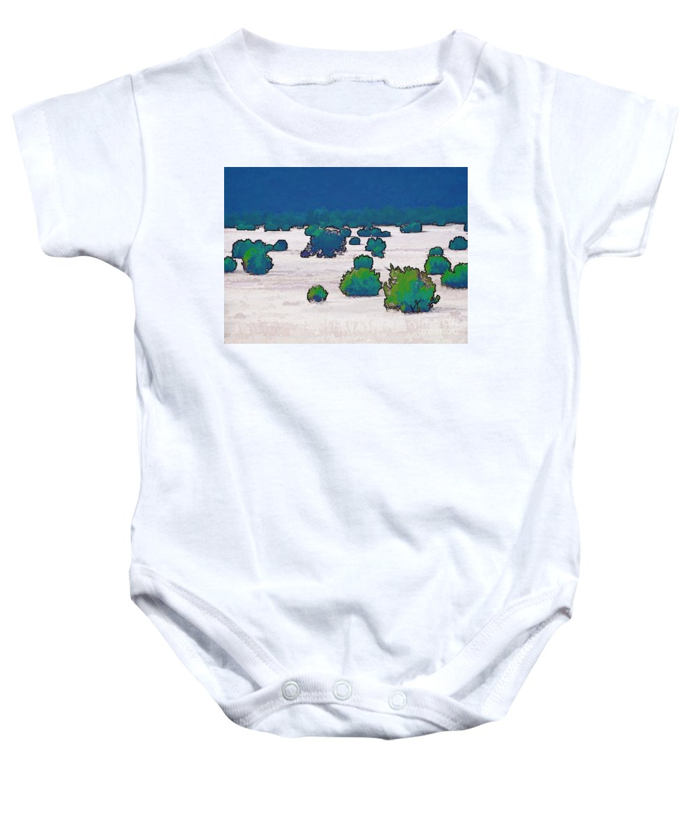 Digital Drawing Baby Onesie featuring the digital art Juniper Field by Tim Richards