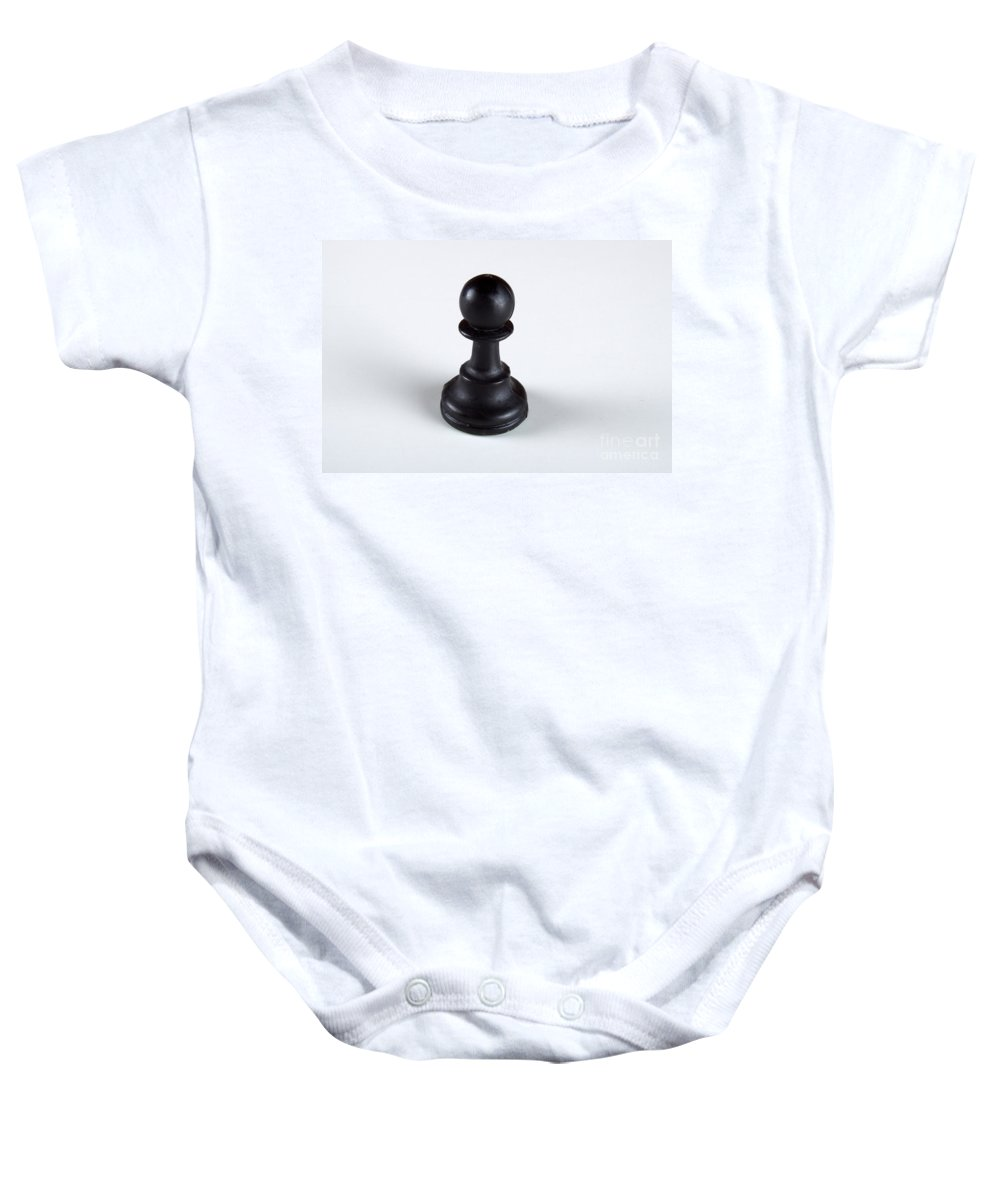 Abstract Baby Onesie featuring the photograph Just A Pawn by Alan Look