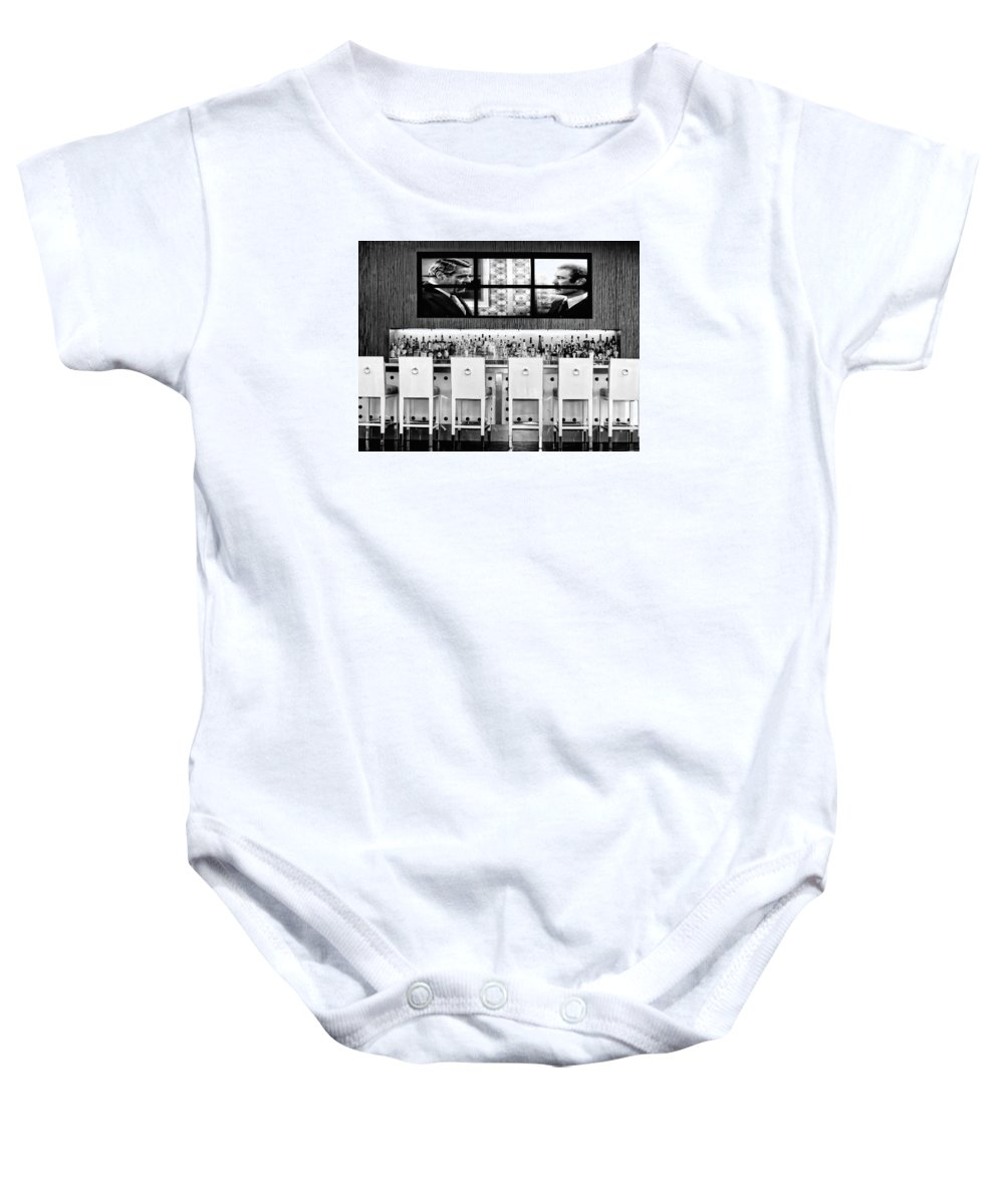 Riviera Baby Onesie featuring the photograph Keep Drinking Men Palm Springs by William Dey