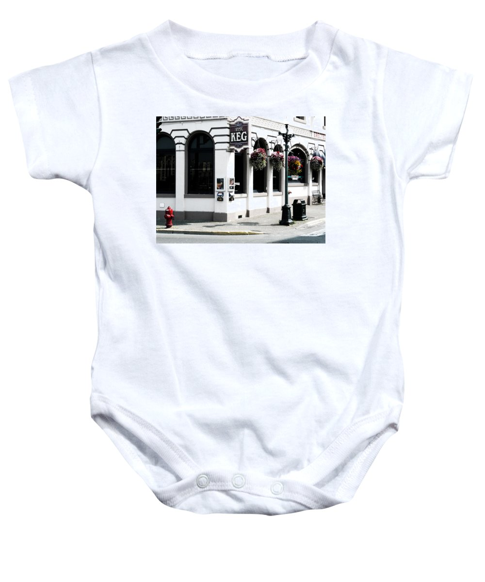 Street Photography Baby Onesie featuring the photograph Keg by The Artist Project