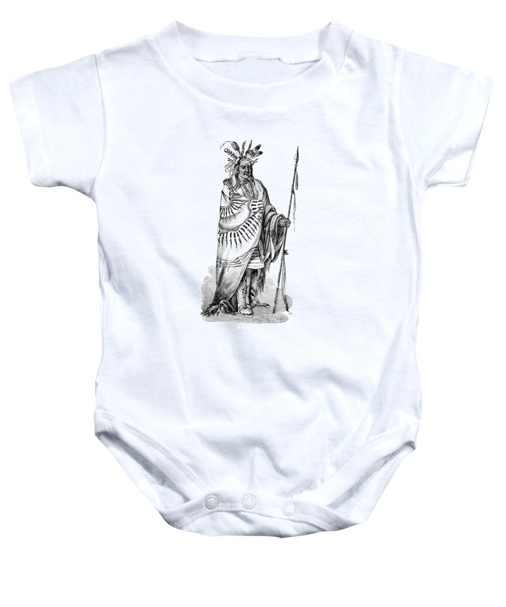 History Baby Onesie featuring the photograph Keokuk, Sauk Indian Chief by British Library