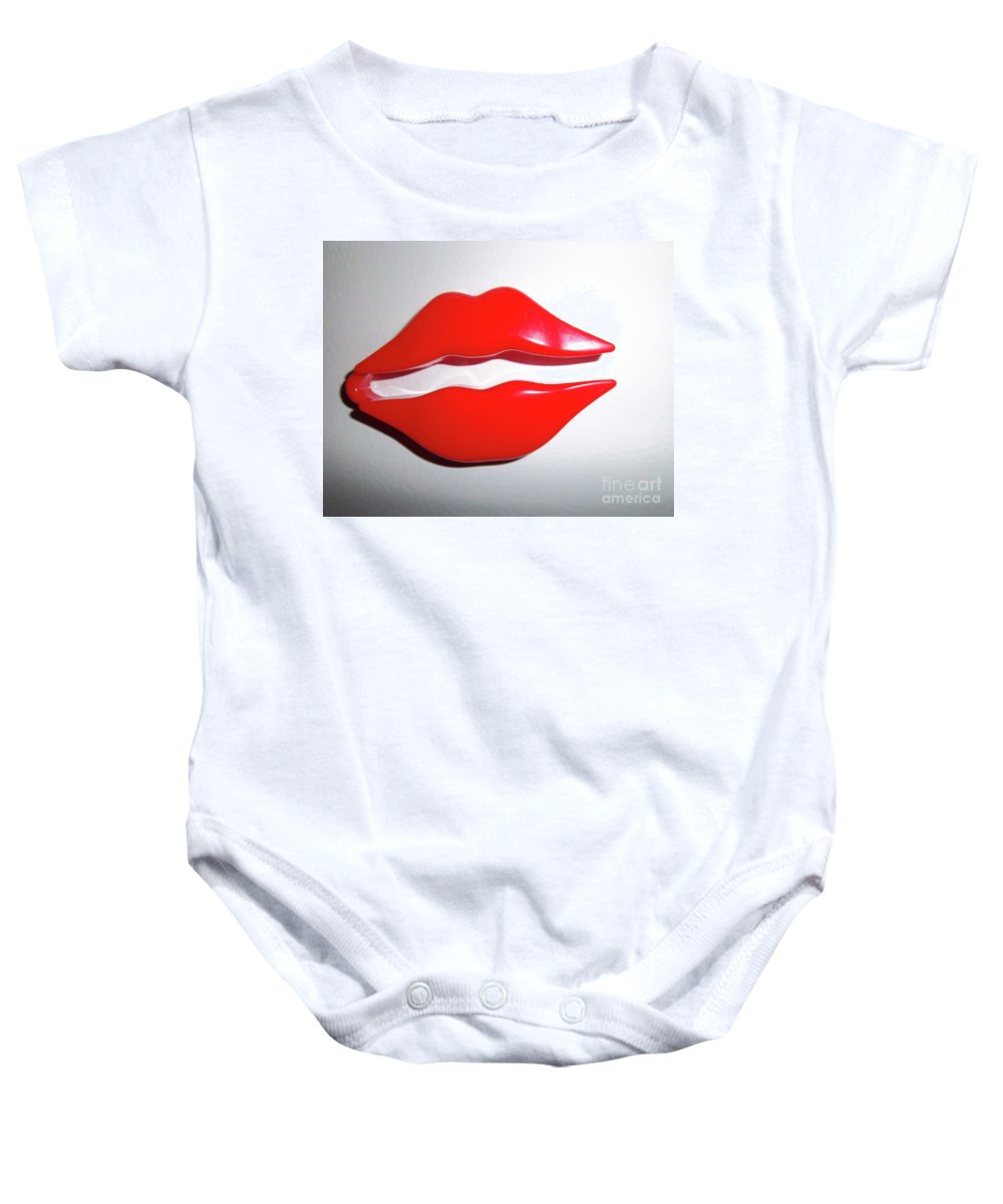 Still Life Baby Onesie featuring the photograph Kiss Me by Lauren Leigh Hunter Fine Art Photography