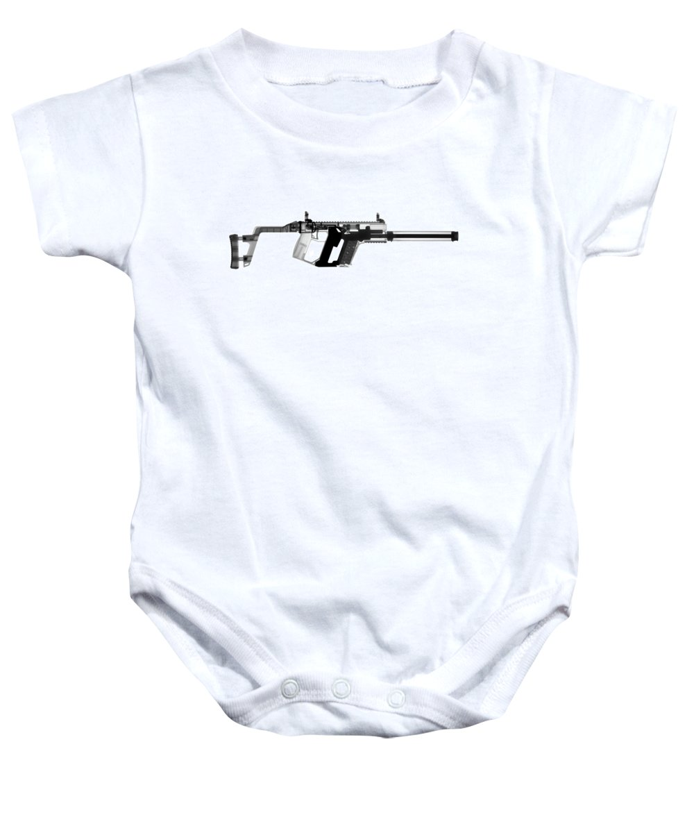 Gun Collectible Baby Onesie featuring the photograph Kriss Vector X-ray Photograph by Ray Gunz