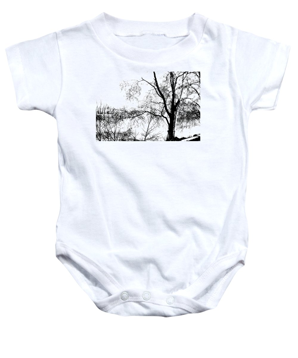 Tree Baby Onesie featuring the photograph Lake - Tree - At The Lake By A Tree by Marie Jamieson