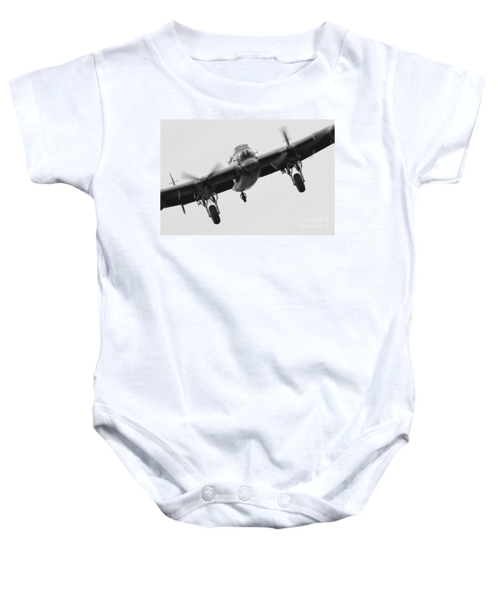 Lancaster Bomber Baby Onesie featuring the photograph Lancaster Bomber by J Biggadike