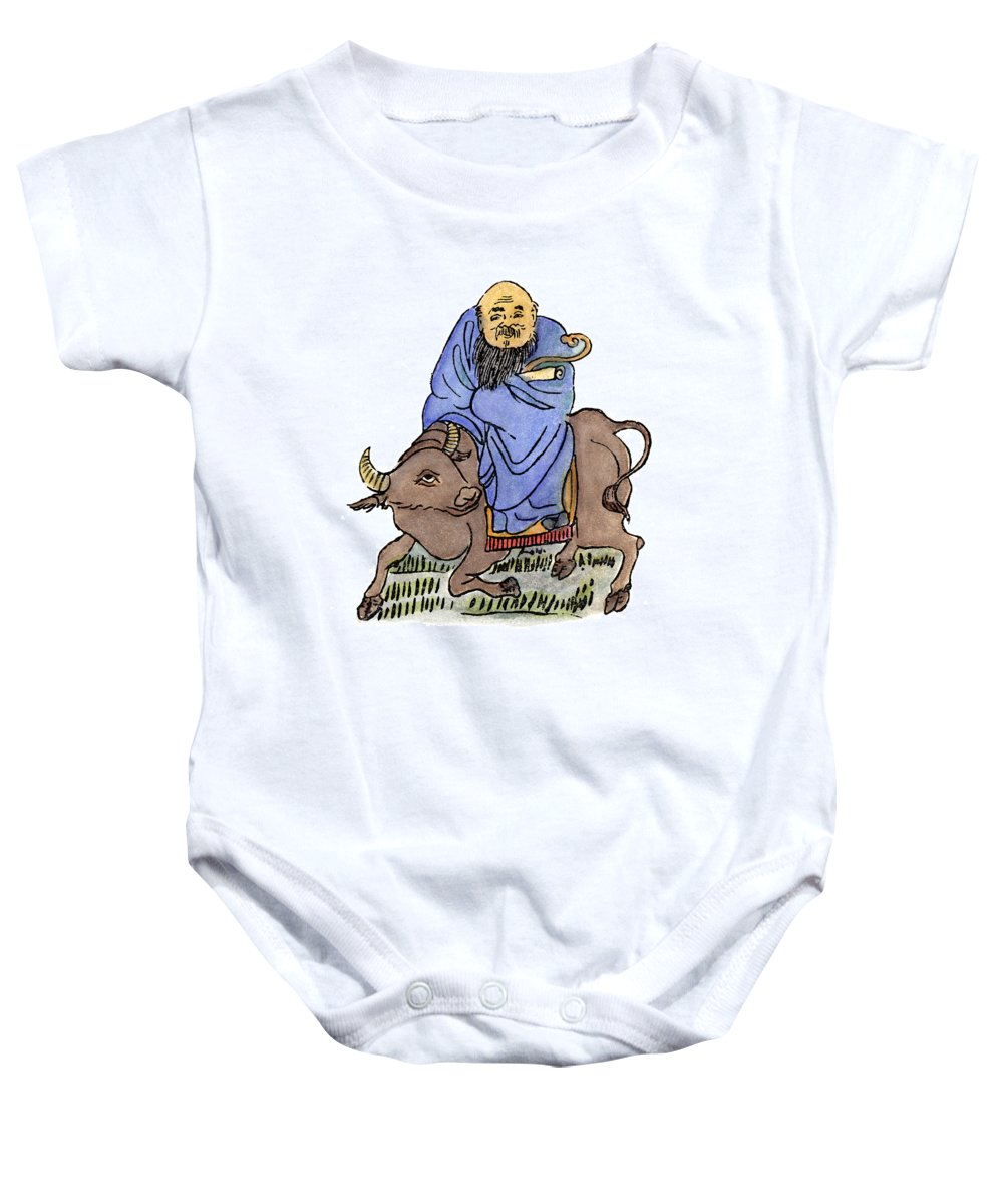 6th Century B.c. Baby Onesie featuring the drawing Lao-tzu (c604-531 B by Granger