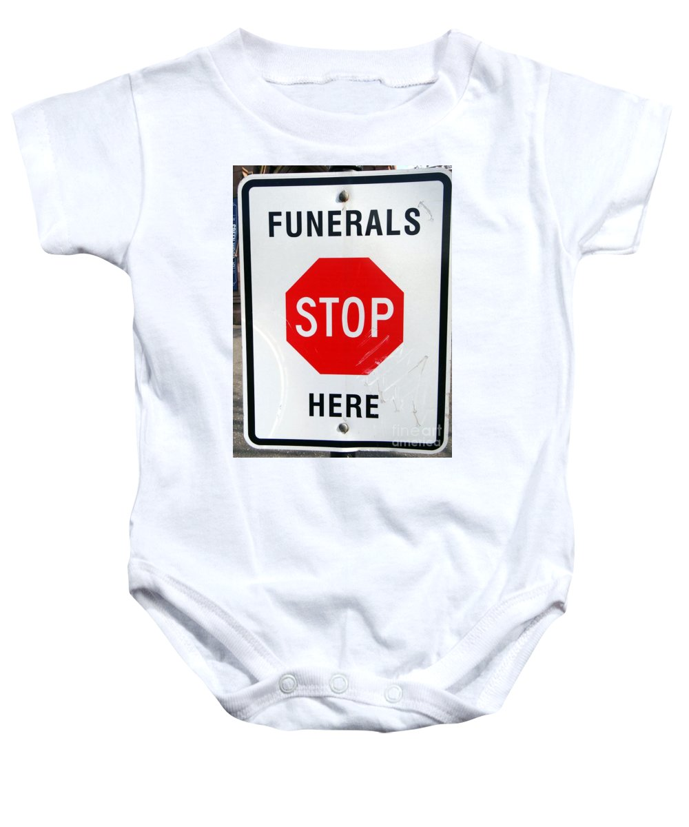 Funerals Baby Onesie featuring the photograph Last Stop by Ed Weidman