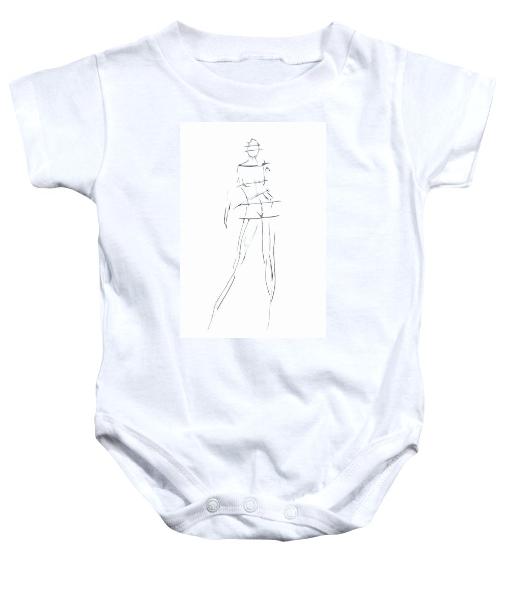 Pen And Ink Drawing Baby Onesies