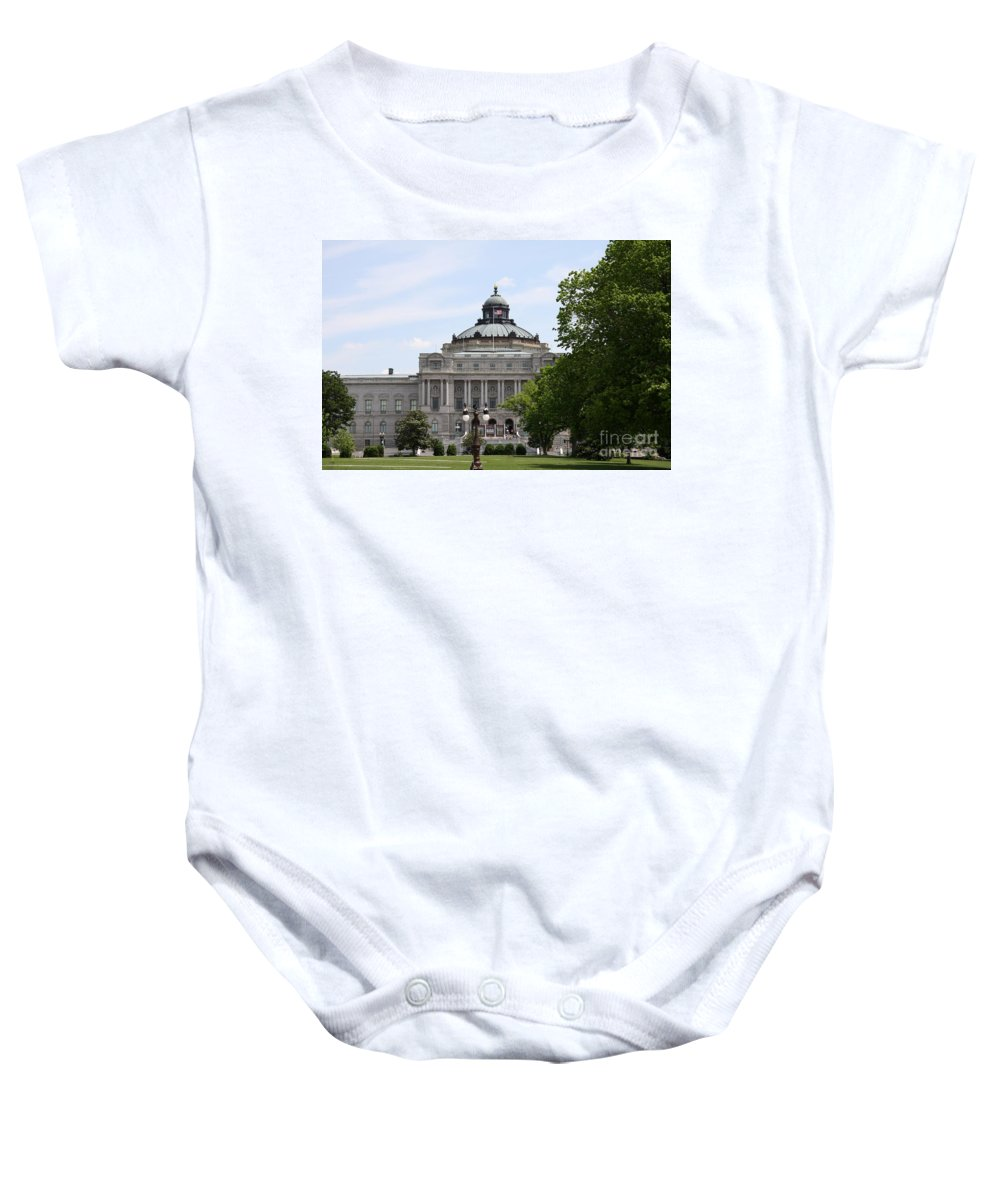 Library Of Congress Baby Onesie featuring the photograph Library Of Congress - Thomas Jefferson Building by Christiane Schulze Art And Photography