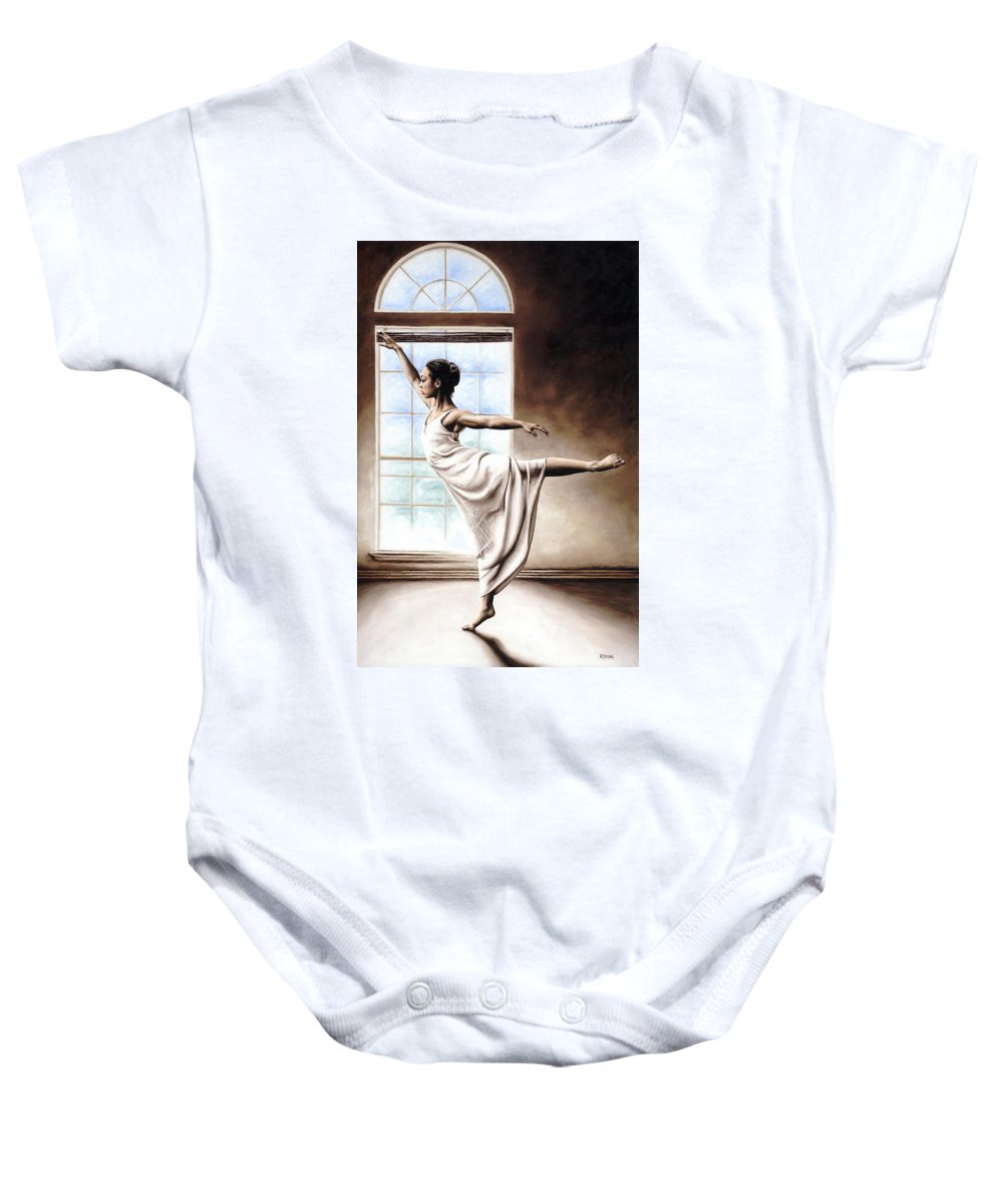 Dance Baby Onesie featuring the painting Light Elegance by Richard Young
