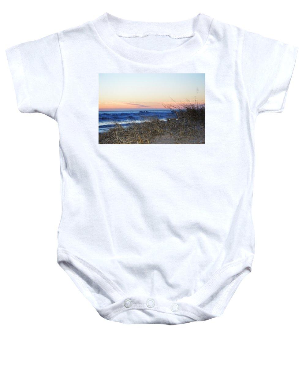 Ludington Baby Onesie featuring the photograph Like A Rainbow by Linda Kerkau