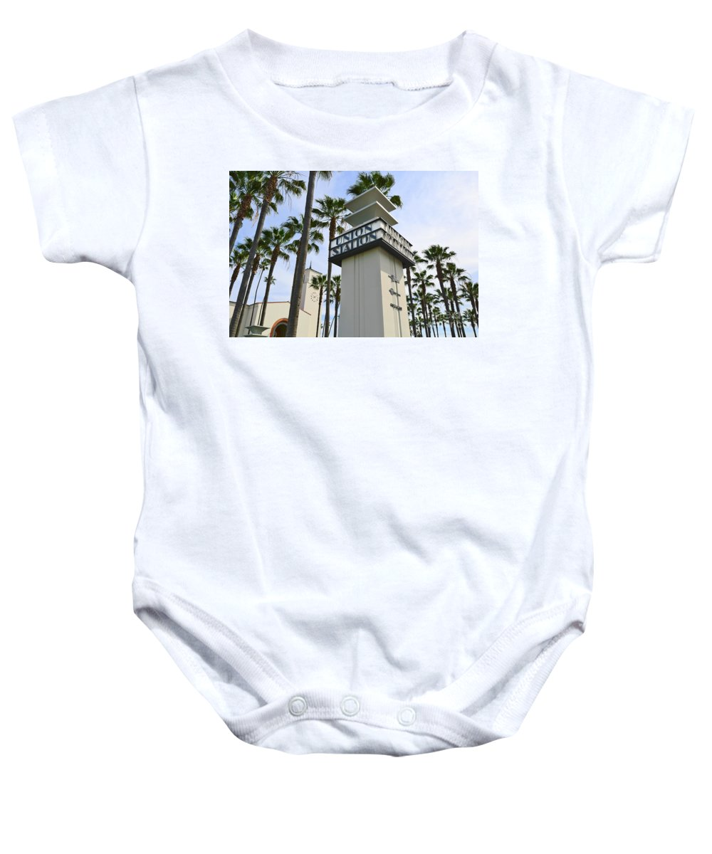 Los Angeles Union Station Baby Onesie featuring the photograph Los Angeles Union Station. by Jamie Pham