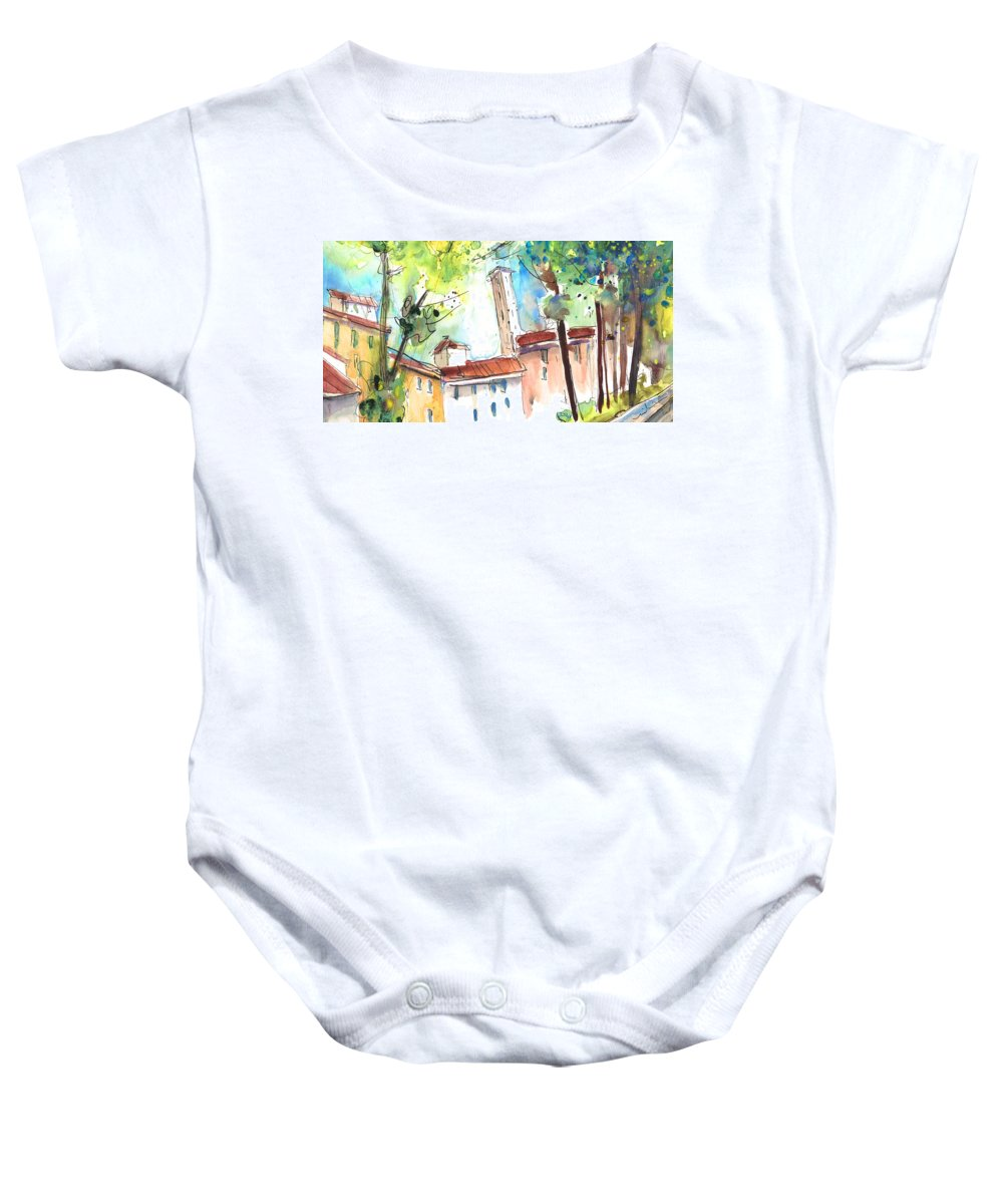 Italy Baby Onesie featuring the painting Lucca In Italy 06 by Miki De Goodaboom