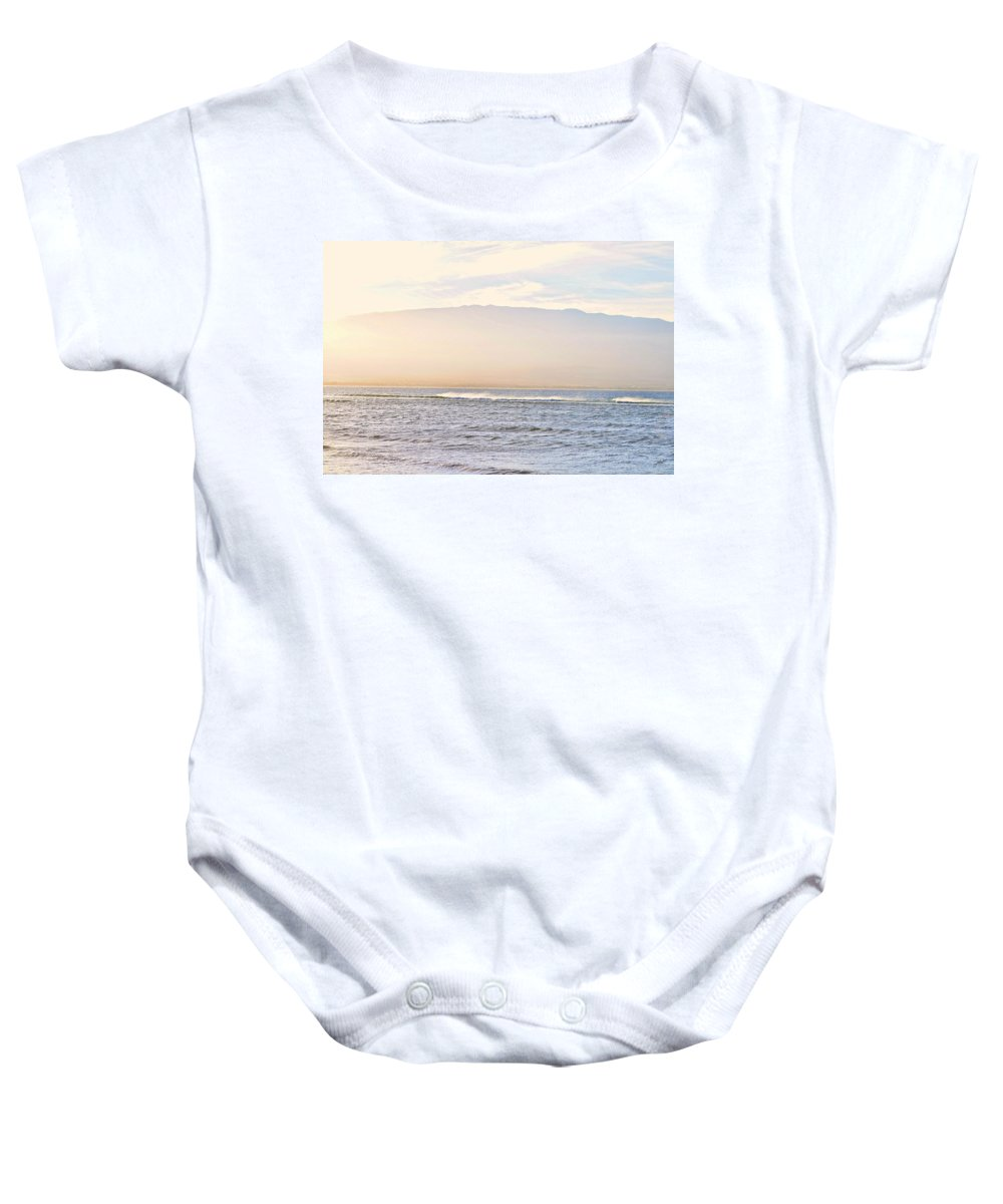 Nature Baby Onesie featuring the photograph Maalaea Morning Surf by Paulette B Wright
