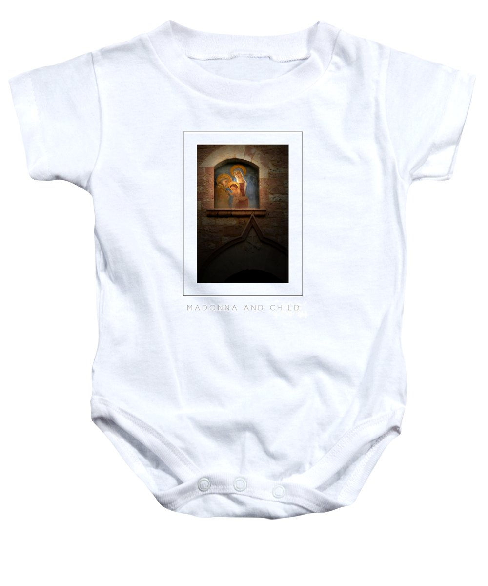 Virgin Mary Baby Onesie featuring the photograph Madonna And Child Poster by Mike Nellums