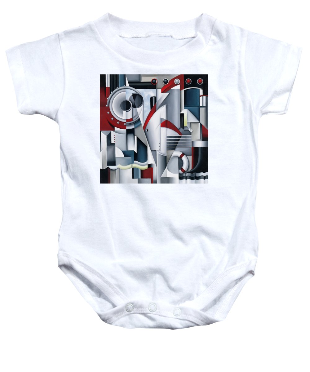 Maiden Baby Onesie featuring the painting Maiden Voyage by Catherine Abel