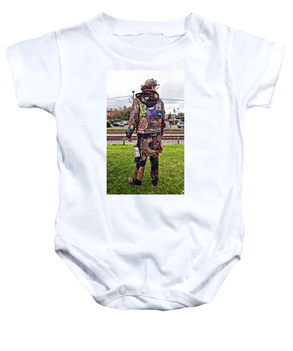 French Quarter Baby Onesie featuring the photograph Marching To His Own Drummer 3 by Steve Harrington