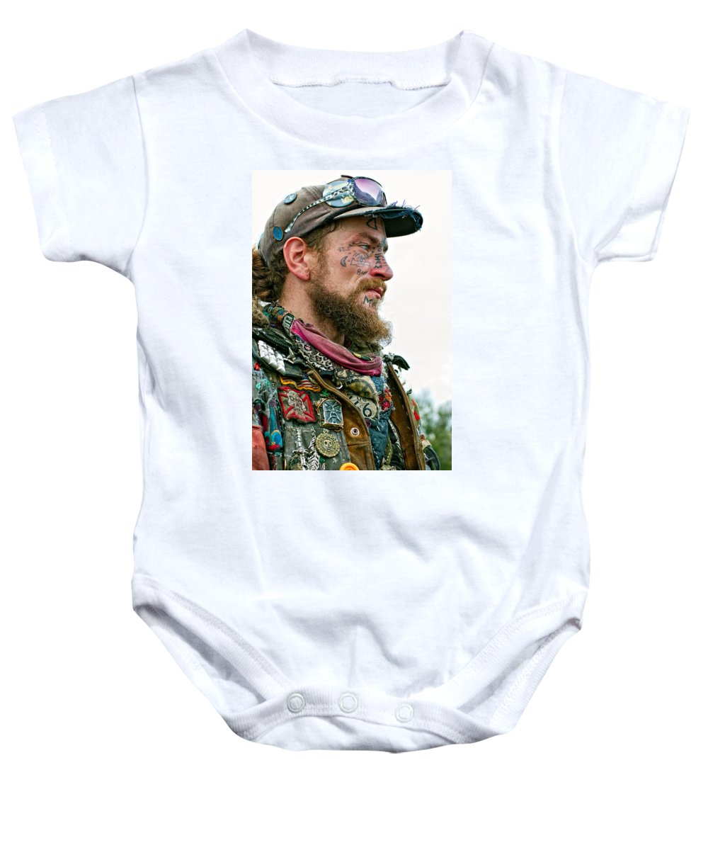 French Quarter Baby Onesie featuring the photograph Marching To His Own Drummer by Steve Harrington