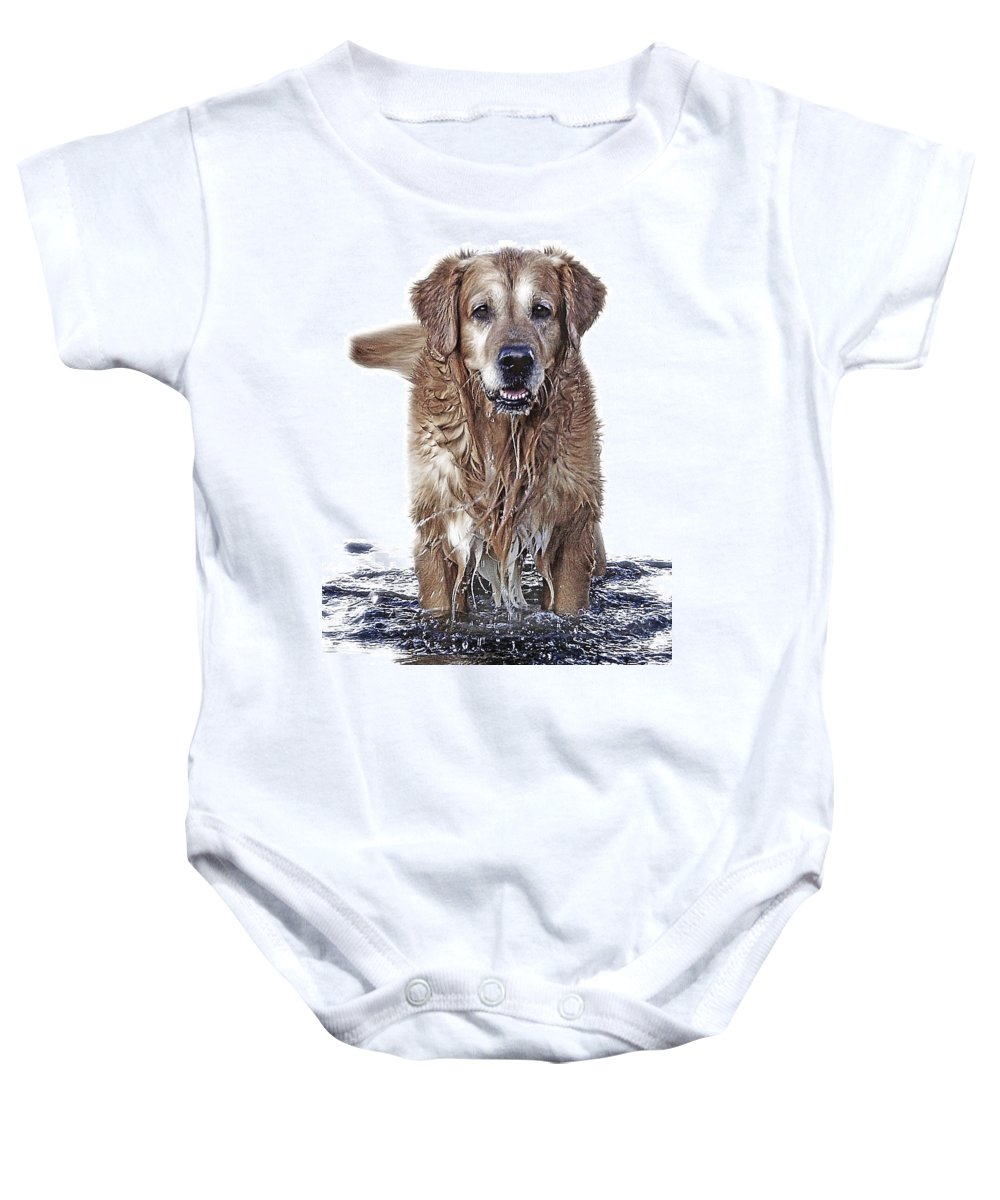 Dog Baby Onesie featuring the photograph Master Of Wet Elements by Joachim G Pinkawa