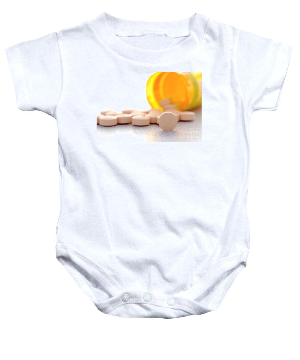 Pills Baby Onesie featuring the photograph Medication by Olivier Le Queinec
