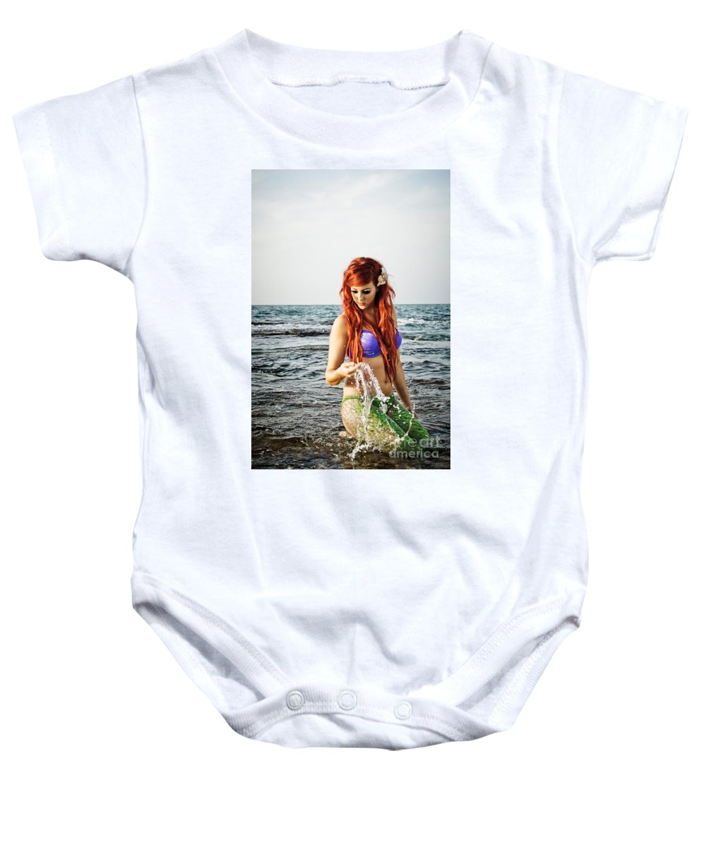 Creativity Baby Onesie featuring the photograph Mermais Sighting 2 by Guy Viner