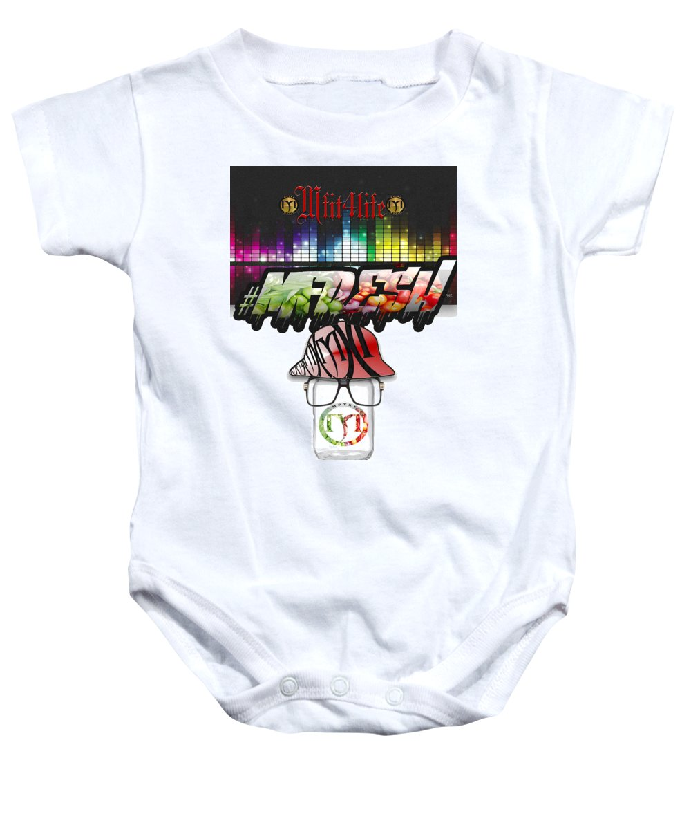 Live Free Baby Onesie featuring the digital art Mfit4life Fresh by Jemel Smith