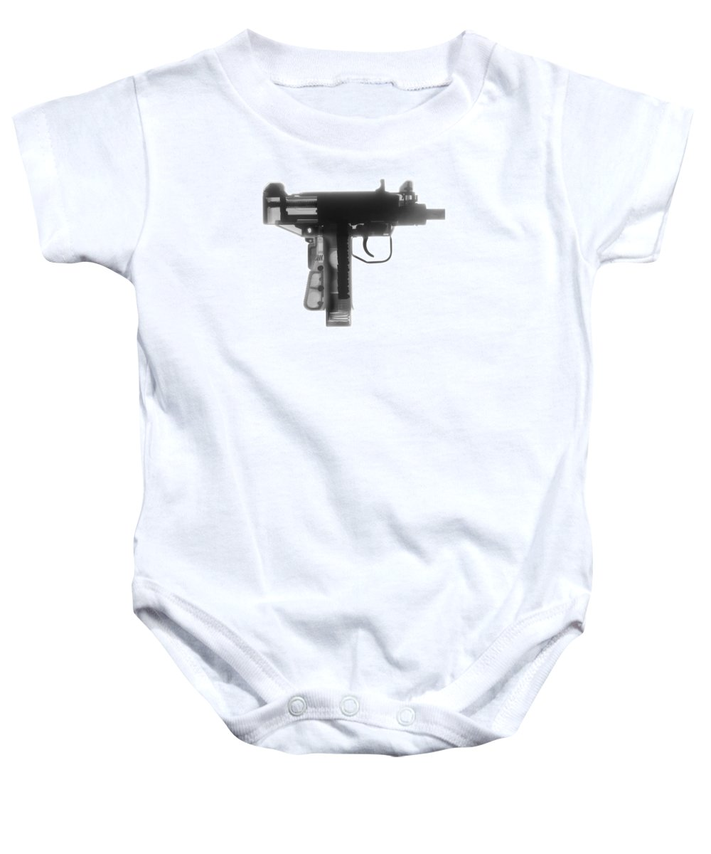 Gun Collectible Baby Onesie featuring the photograph Micro Uzi X Ray Photograph by Ray Gunz