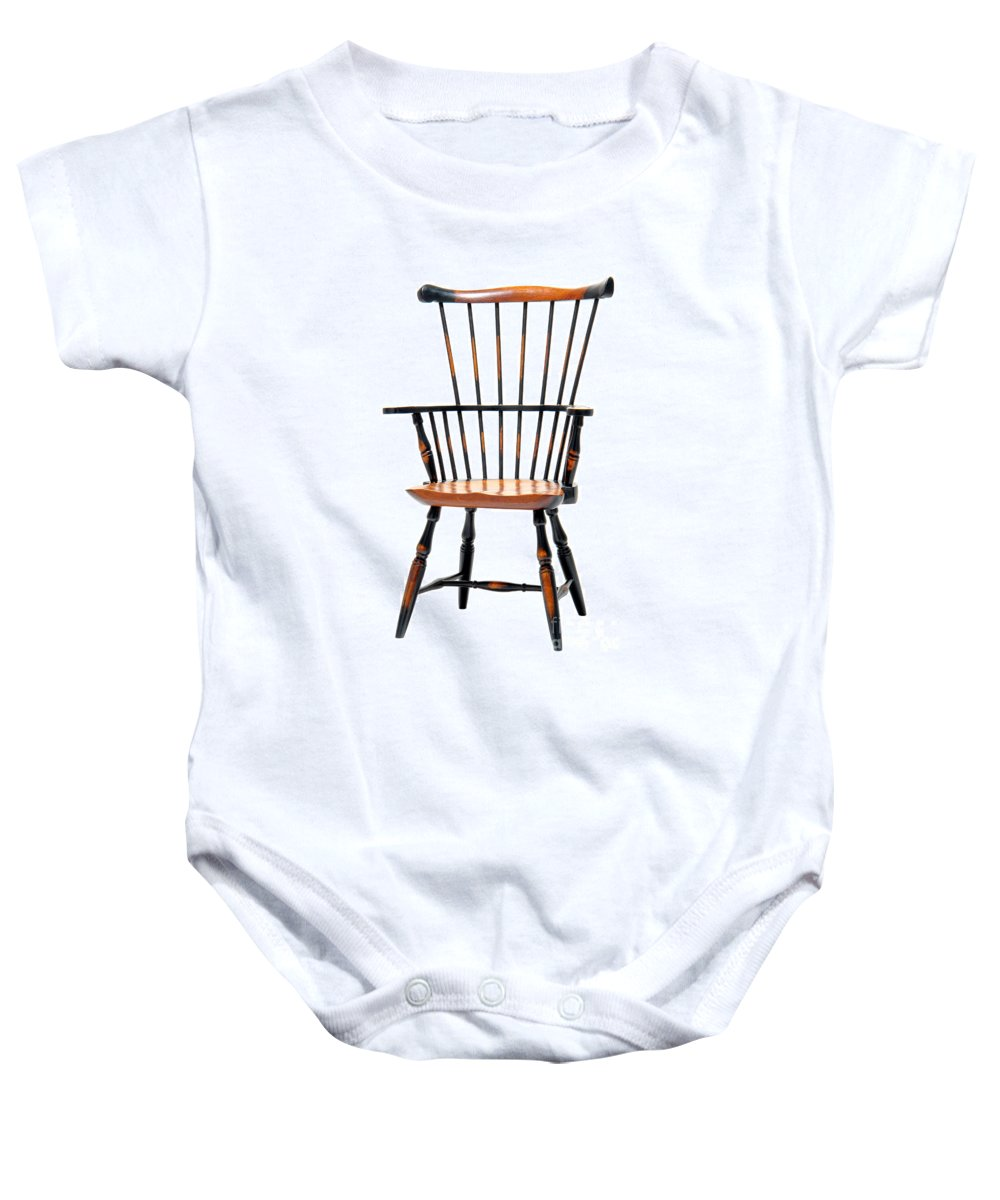 Furniture Baby Onesie featuring the photograph Miniature Windsor Armchair by Olivier Le Queinec