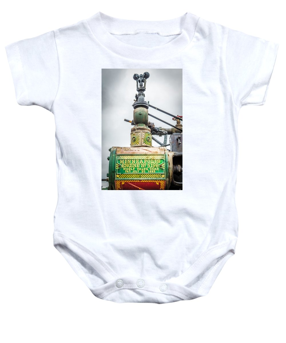 Governor Baby Onesie featuring the photograph Minneapolis Steam Engine by Paul Freidlund