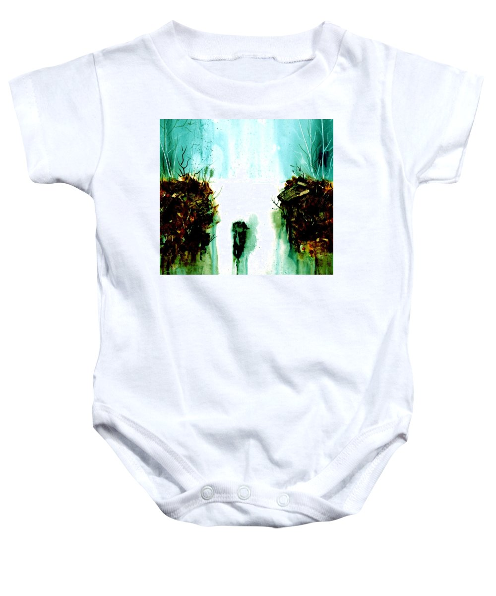 Watercolor Baby Onesie featuring the painting Mirage by Brenda Owen