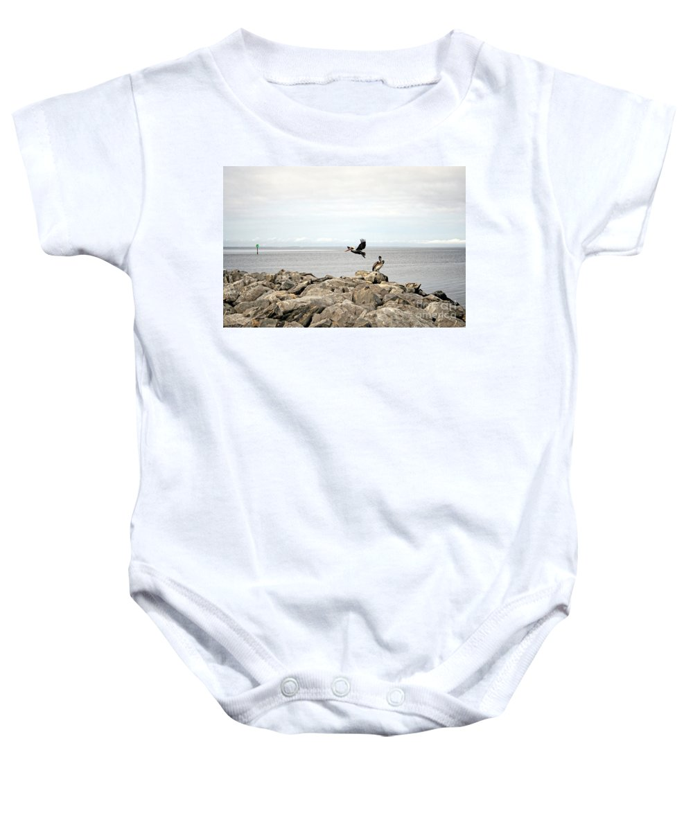 Landscape Baby Onesie featuring the photograph Mobile Bay 8 by Earl Johnson