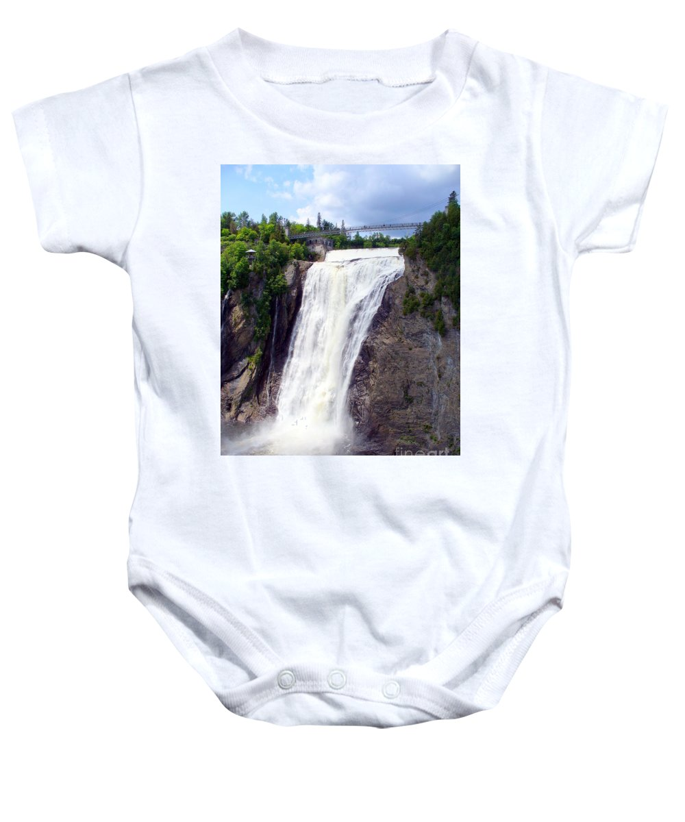 Quebec Cityscape Baby Onesie featuring the photograph Mont Morency Falls by Lingfai Leung