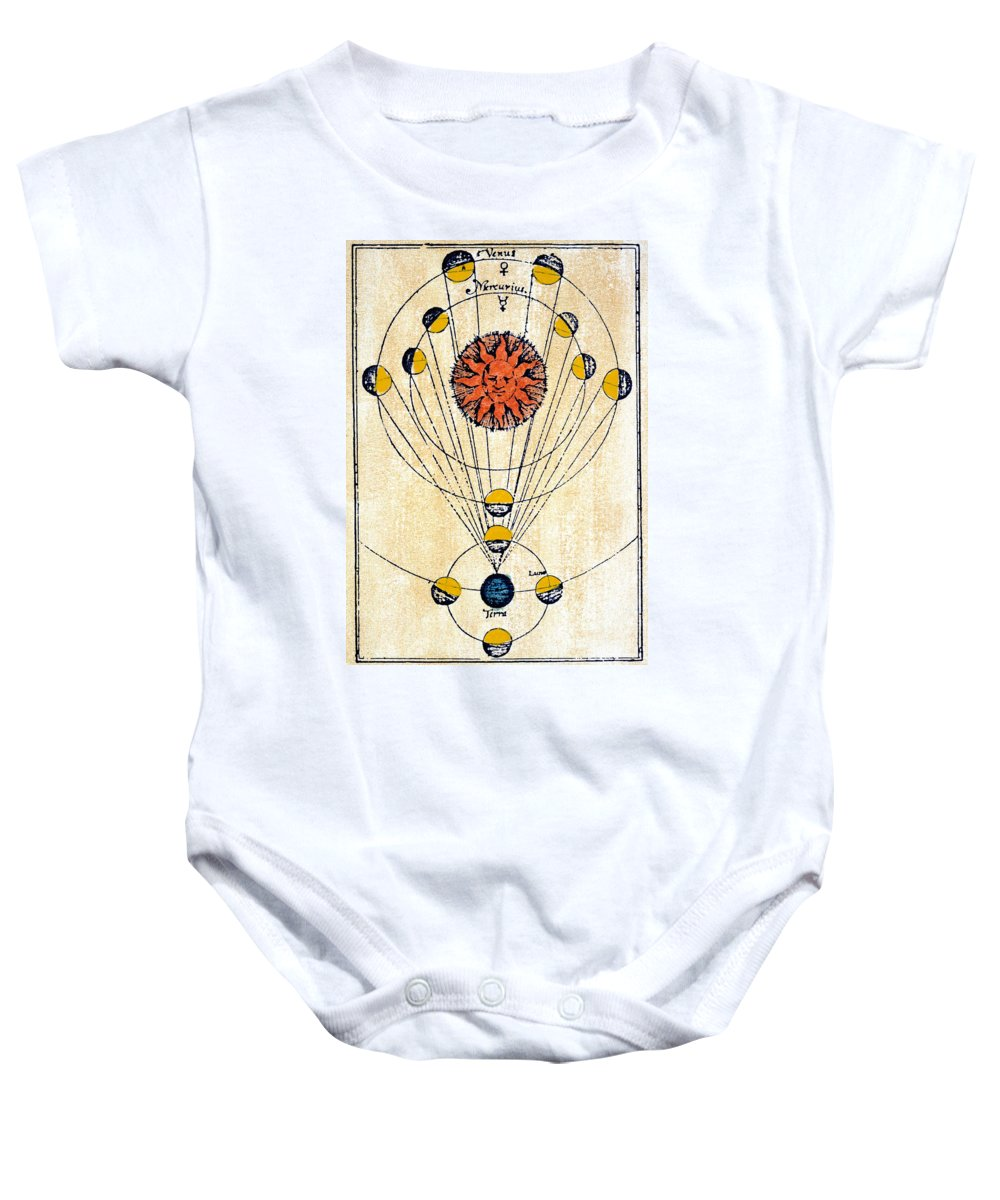 1643 Baby Onesie featuring the photograph Moon Phases by Granger