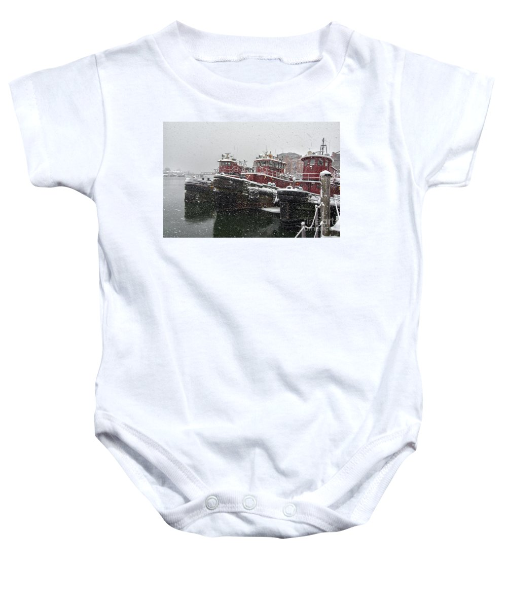 Portsmouth Nh Baby Onesie featuring the photograph Moran Towing by Scott Thorp
