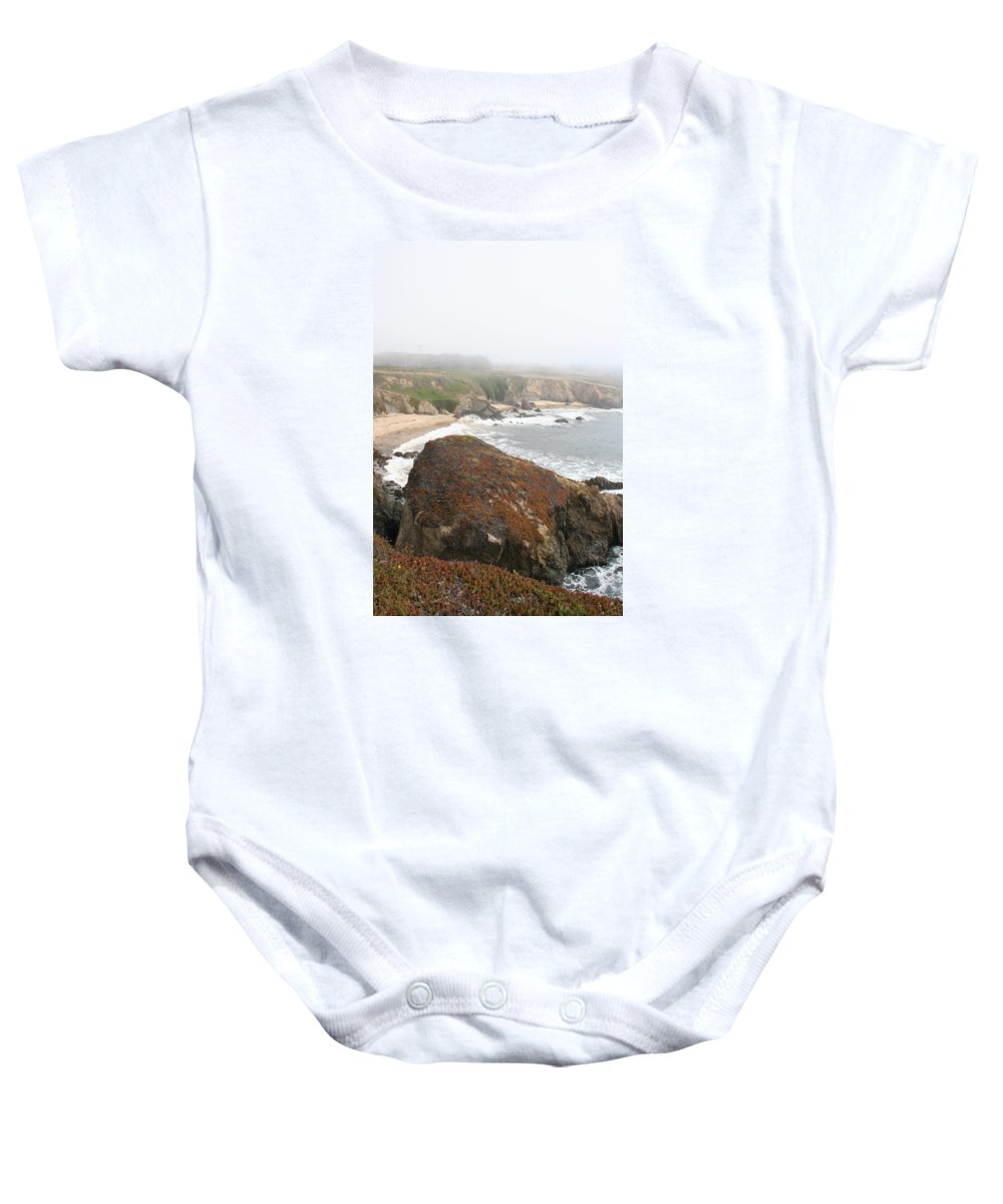 Coast Baby Onesie featuring the photograph Mossy Rocks by Christiane Schulze Art And Photography