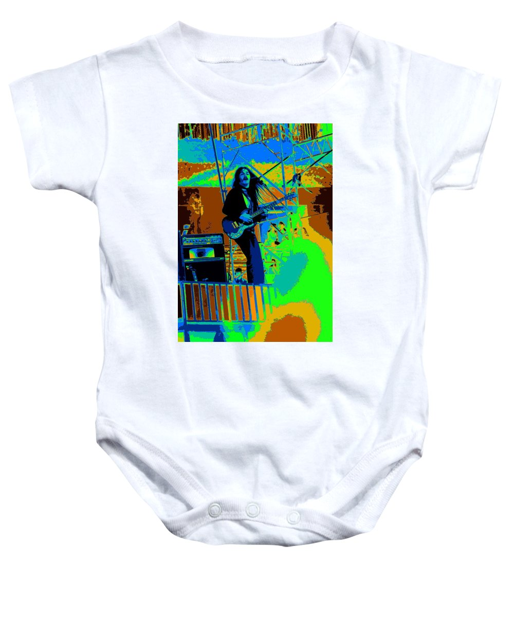 Frank Marino Baby Onesie featuring the photograph Mrdog #4 In Cosmicolors by Ben Upham