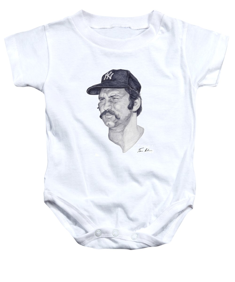 New York Baby Onesie featuring the painting Munson by Tamir Barkan